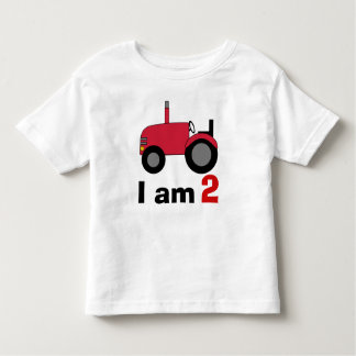 Red Tractor Birthday Toddler T-shirt