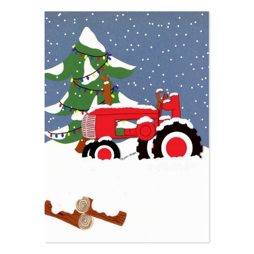 Red Tractor Gift Tag Profile Card Business Cards