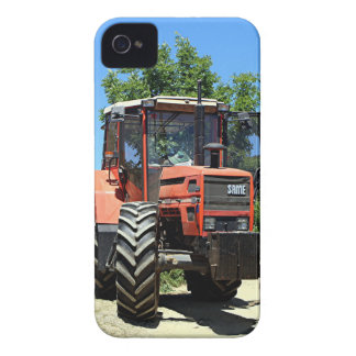 Red Tractor on El Camino, Spain iPhone 4 Case-Mate Cases