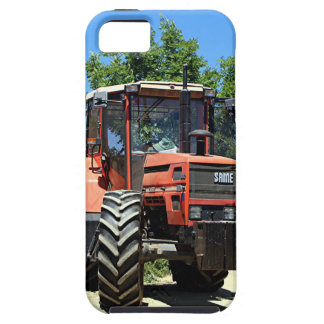 Red Tractor on El Camino, Spain iPhone 5 Cover