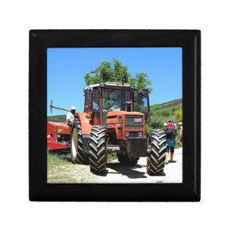 Red Tractor on El Camino, Spain Keepsake Box