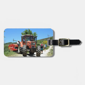 Red Tractor on El Camino, Spain Luggage Tag