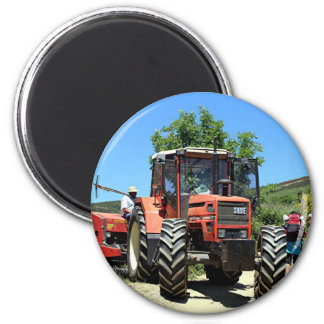 Red Tractor on El Camino, Spain Magnet