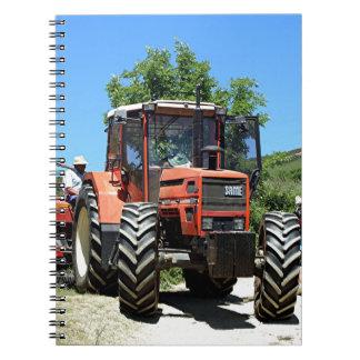 Red Tractor on El Camino, Spain Notebook