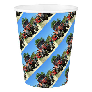 Red Tractor on El Camino, Spain Paper Cup
