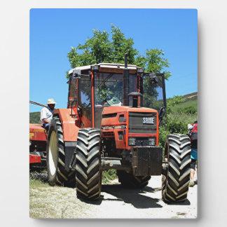 Red Tractor on El Camino, Spain Plaque