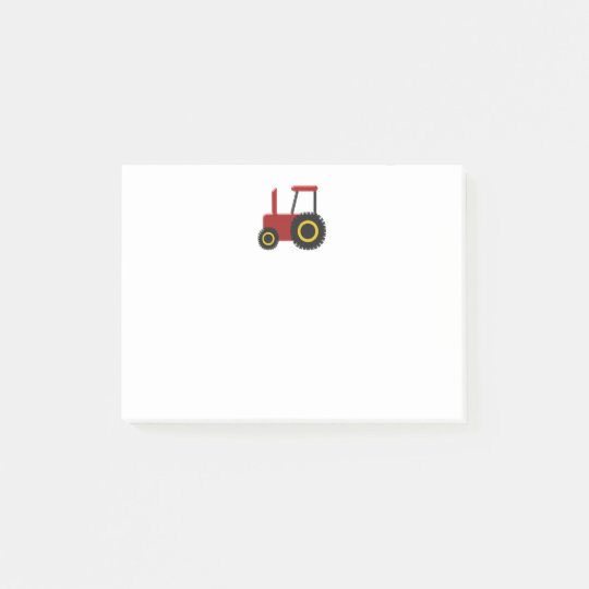 Red Tractor Post-it® Notes