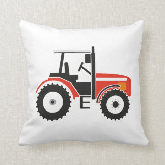 Red Tractor Throw Pillow Cushion
