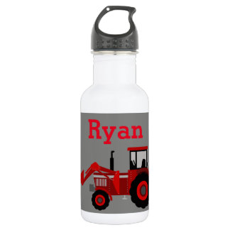 Red Tractor Water Bottle