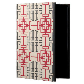 Red Traditional Geometric Chinese Decorative Patte Cover For iPad Air