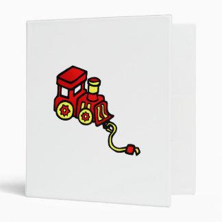 red train 3 ring binders