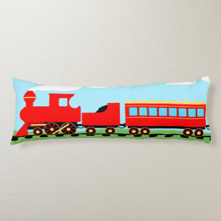 Red train body pillow