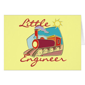 Red Train Little Engineer Tshirts and Gifts Card