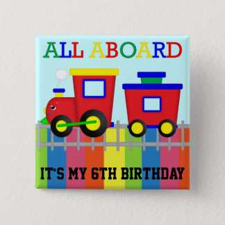 Red Train Pin-Back Buttons