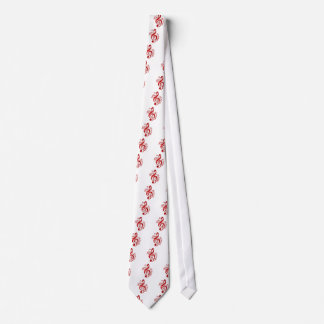 Red Treble Clef With Flowing Music Notes Tie