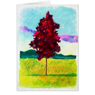 Red Tree Card