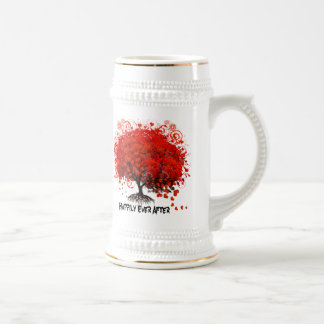 Red Tree Wedding T-Shirts, Gifts, Stickers & Favor Beer Stein