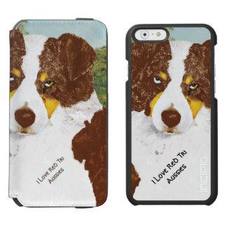 Red Tri Australian Shepherd Incipio Watson™ iPhone 6 Wallet Case