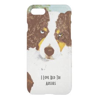 Red Tri Australian Shepherd iPhone 7 Case