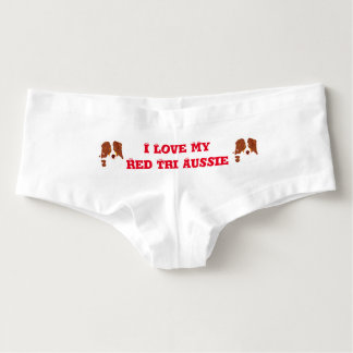 Red Tri Australian Shepherd Womens Shorts