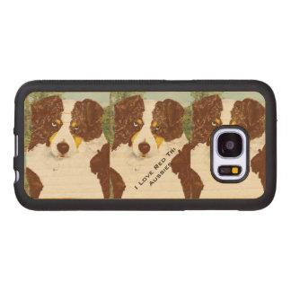 Red Tri Australian Shepherd Wood Samsung Galaxy S7 Case