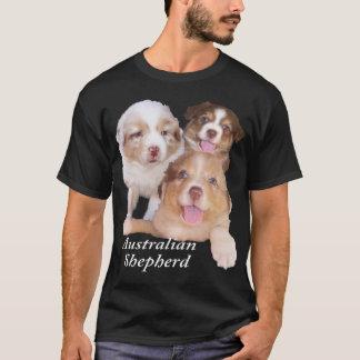 Red Tri & Red Merle Aussie Pups T-Shirt