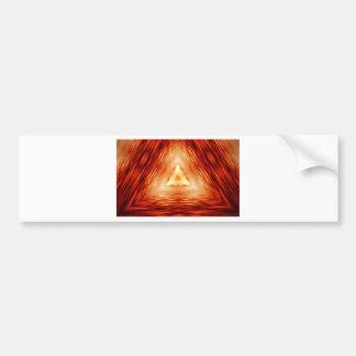 Red Triangle Pattern Bumper Sticker
