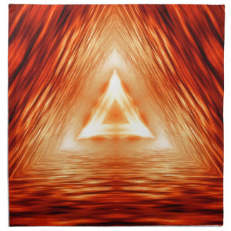 Red Triangle Pattern Napkin