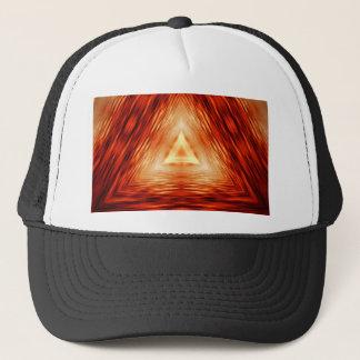 Red Triangle Pattern Trucker Hat