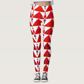 Red Triangles Leggings