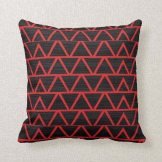 Red Triangles w/Black Throw Pillow