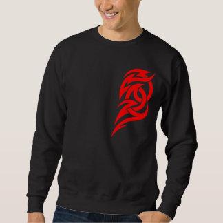 Red Tribal 2 Piece Chest Design 6 Sweatshirt