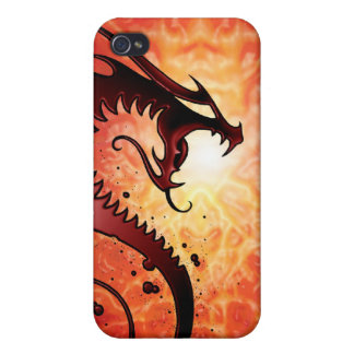 Red Tribal Dragon iPhone 4/4S Case