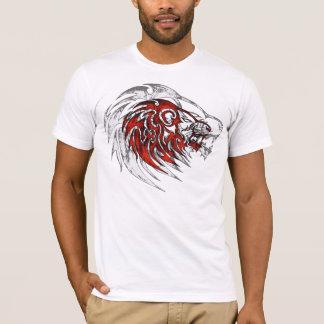 Red tribal lion head. T-Shirt