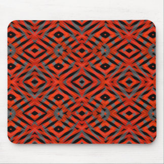Red tribal shapes pattern mouse pad