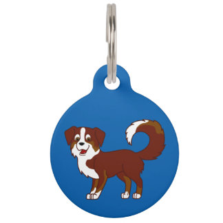 Red Tricolor Australian Shepherd Dog Pet ID Tags