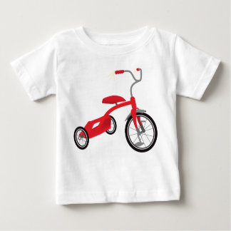 Red Tricycle Graphic Baby T-Shirt