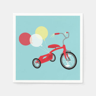 Red Tricycle Graphic Paper Napkin