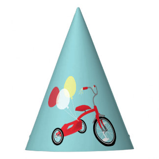 Red Tricycle Graphic Party Hat