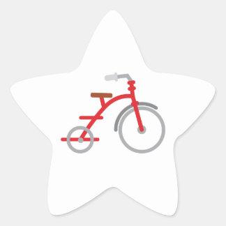 Red Trike Star Sticker