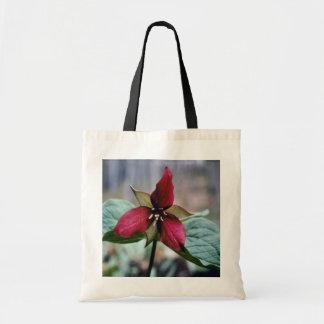 Red Trillium (Trillium Erectum) flowers Tote Bag