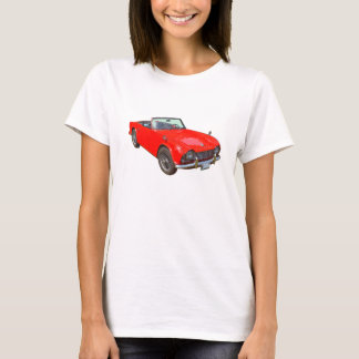 Red Triumph Tr4 Convertible Sports Car T-Shirt
