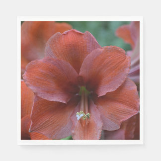 Red Tropical Flower Paper Napkin