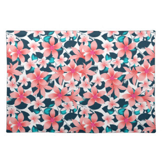 Red tropical hibiscus placemat