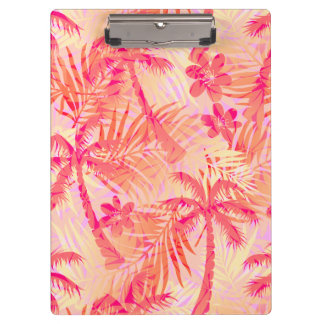 Red tropical palms clipboard