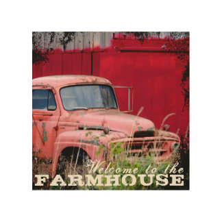Red Truck Farmhouse Print