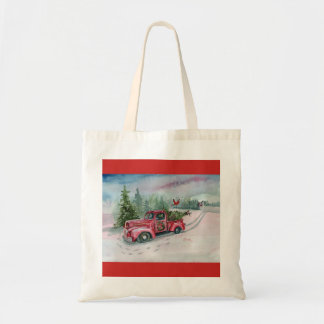 Red Truck in the Meadow Tote Bag