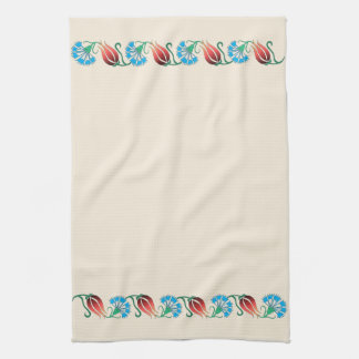 Red Tulip Blue Carnation Towel