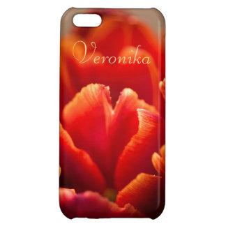 Red tulip case for iPhone 5C