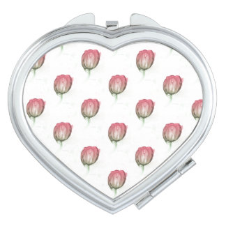 Red tulip compact mirror